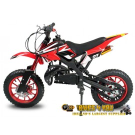 "Apollo 50cc Dirt Bike - Easy Pull Start  - Automatic - 10"" Wheels - Disc Brakes - Speed Restrictor"