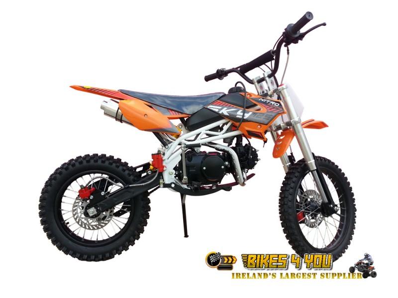 Sky 125cc Dirt Bike 4 Stroke 4 Gears Manual Kick