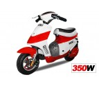 Vespa Style Mini Electric Scooter 350W 24V - 2x12V Batteries - Disc Brakes