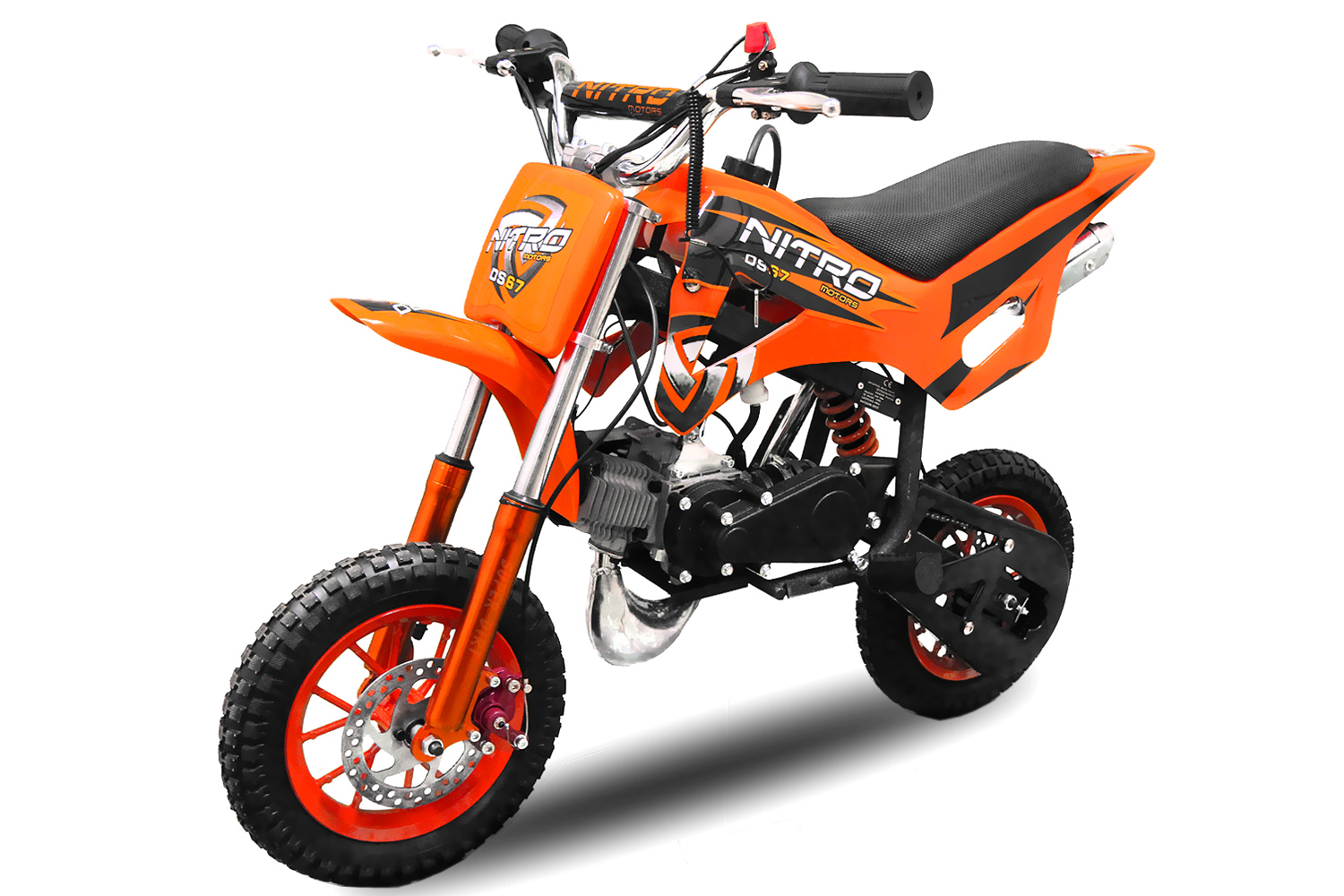 nitro mini dirt bike 50cc automatic disc brakes kill switch 7 wheels twin exhaust. Black Bedroom Furniture Sets. Home Design Ideas